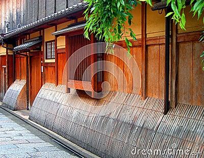 Gion hölzernes Haus