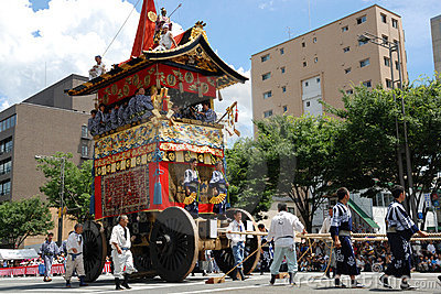 Gion Matsuri of most famous festival in Japan Editorial Photo