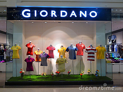 Giordano Clothing Retail Store Editorial Stock Photo