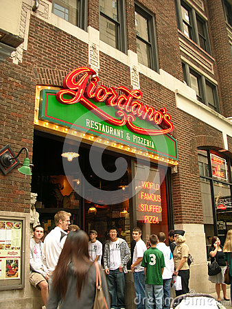 Giordanos chicago style pizza famous restaurant Editorial Stock Photo