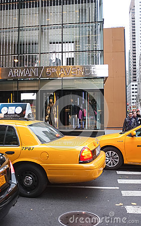Giorgio Armani Store, New York City Editorial Stock Image