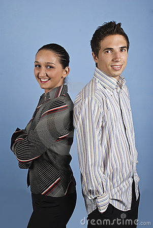Giovane gente di affari felice