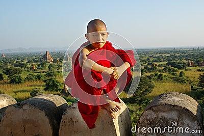 Giovane rana pescatrice buddista