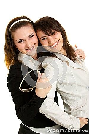 Giovani donne di affari e giovani uomini d affari