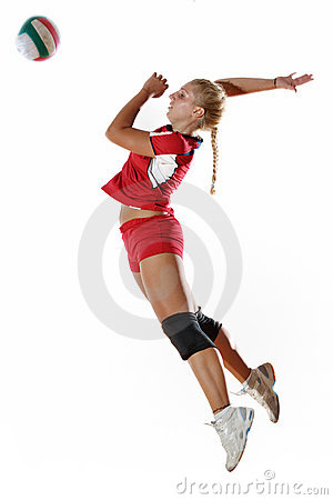 Free Gir Playing Volleyball Royalty Free Stock Images - 21420469