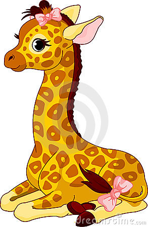 Free Giraffe Calf With Bow Stock Photography - 19447112