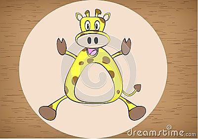 Giraffe cartoon vector illustration