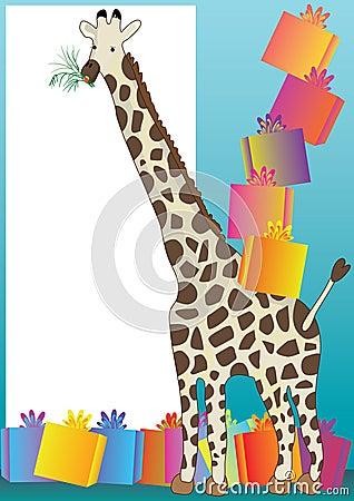 Giraffe And Gift_eps