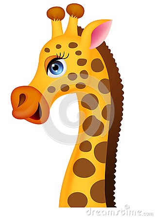 Cartoon giraffe head and neck - photo#3