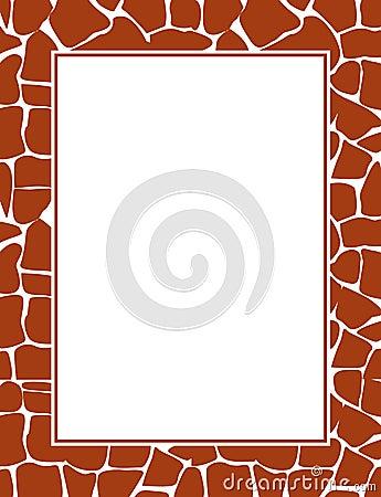 Giraffe print border