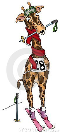 Giraffe Skier