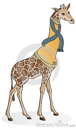 Giraffe in a Sweater