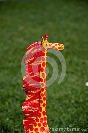 Giraffe of wood of adornment