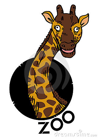 Giraffe zoo icon