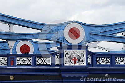 Girder detail on Tower Bridge. London. UK