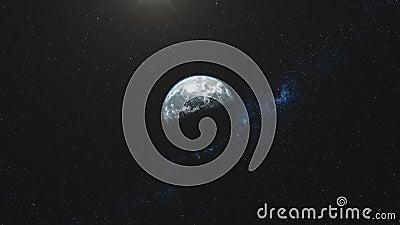 Gire a estrela que do movimento r?pido da terra o feixe ilumina ilustração do vetor
