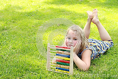 Girl with an abacus