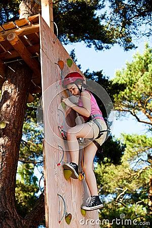 Girl in adventure park