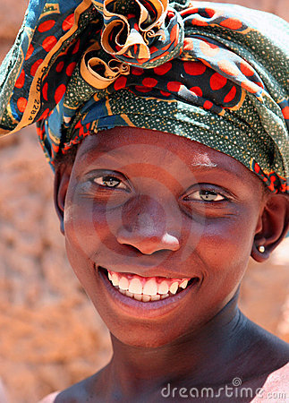 Girl in Africa Editorial Stock Photo