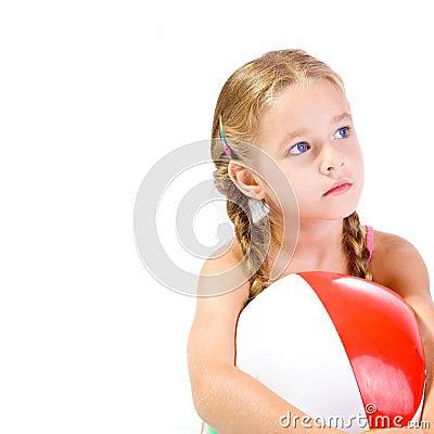 Free Girl And Ball Stock Photos - 6139543