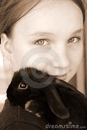 Free Girl And Bunny Stock Images - 2349864