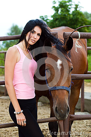 Free Girl And Horse Stock Photo - 25708520