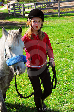 Free Girl And Pony Royalty Free Stock Image - 1907016