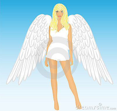 The girl an angel