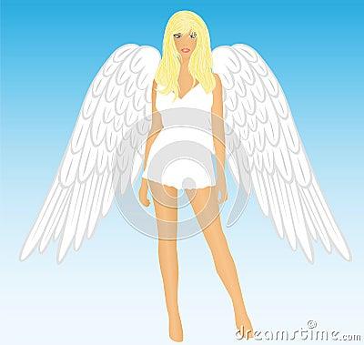 The girl an angel