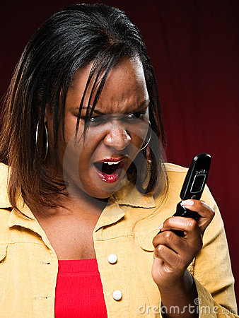 Free Girl Appalled While Using Cellphone Royalty Free Stock Photo - 6360735