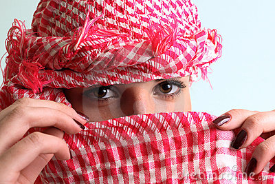 The girl with a arab headscarf