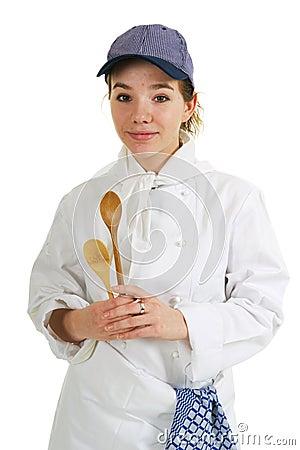 Girl as cook