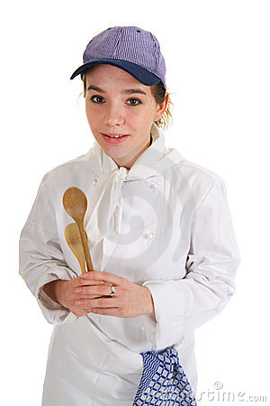 Girl as cook