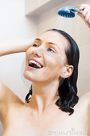 Free Girl At The Shower Stock Photo - 15768790