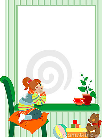 Free Girl At The Window Royalty Free Stock Photos - 12994828