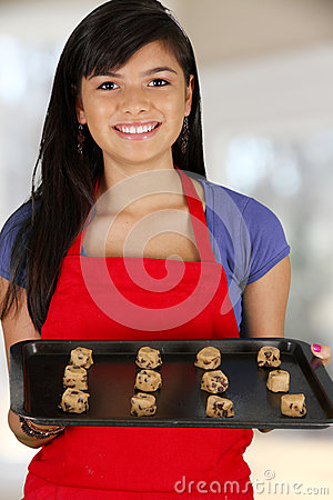 Girl Baking Cookies