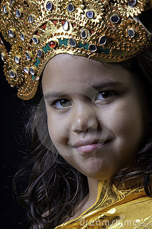 Girl in Balinese costume