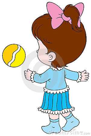 Girl With A Ball Royalty Free Stock Image - Image: 15753896