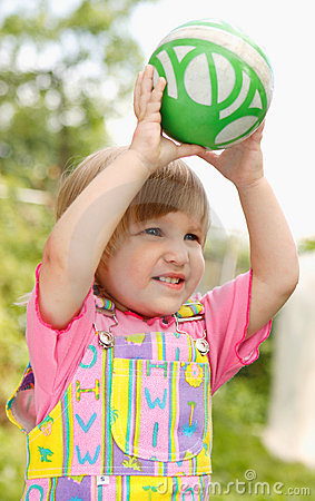 The Girl With An Ball Stock Photography - Image: 2311712