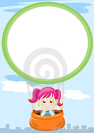 Girl in balloon