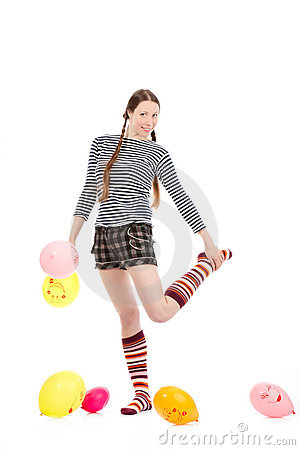 Girl With Baloons Stock Images - Image: 17511214