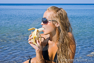 Girl with banana