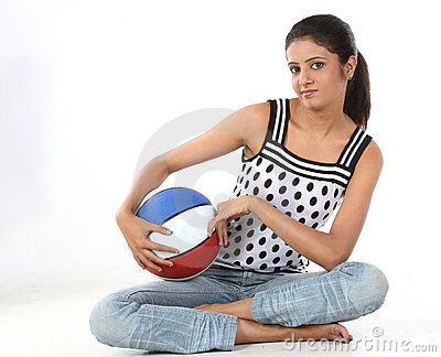 Girl with a basketball