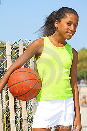 Girl basketball player