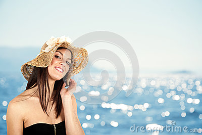 Girl in beach