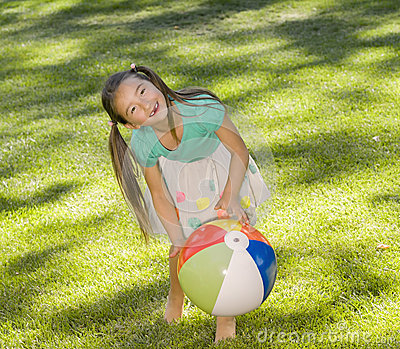 Girl and Beach Ball