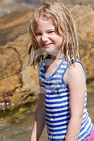 Girl and beach fun