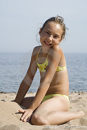 Girl on the beach IV