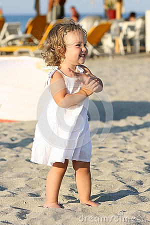 Girl at beach in the sea