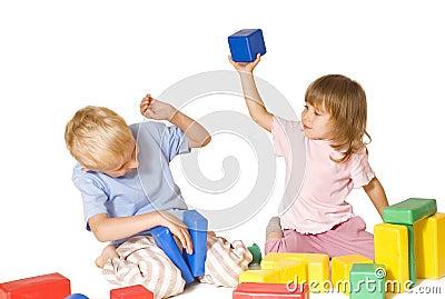 Girl beats boy toy